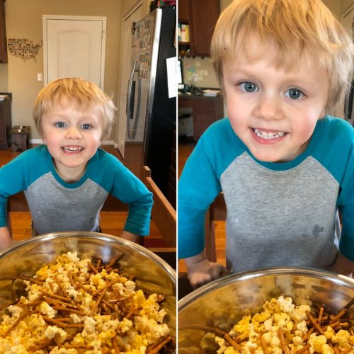 Cupid's Popcorn Munch - A Valentine's Day Snack Mix | Recipe from Ellie And Addie