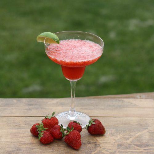 Fresh Strawberry Margarita Recipe | Ellie And Addie