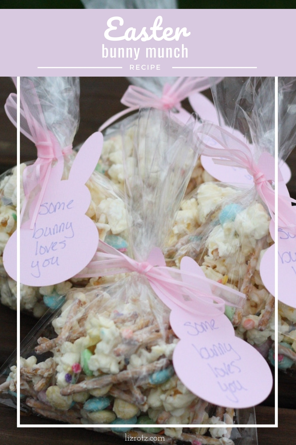Easter Bunny Munch - an easy no-bake treat to make with your kids! from Liz of lizrotz.com